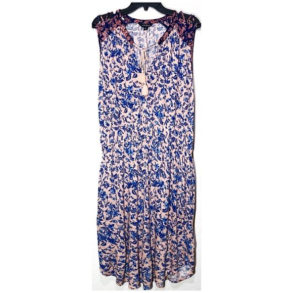 Lucky Brand Dresses & Skirts - Lucky Brand Boho Tank Sleeve Midi Dress